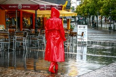 Little red Corvette (kleppertomanie) Tags: klepper raincoat rainwear mac boots wellies gummistiefel hood