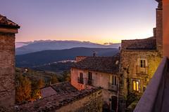 Calascio Abruzzo (Maarten Takens) Tags: abruzzo2019 italia calascio bluehour vacation old oldtown autumn memories sky colour