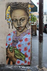 Akelo_8190 rue des Trois Frères Paris 18 (meuh1246) Tags: streetart paris akelo ruedestroisfrères paris18 buttemontmartre enfant