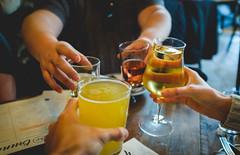 Cheers! (ep_jhu) Tags: shaw cheers x100f drinks washington ashley dcist cider beer fuji doublefisting chris hands dc fujifilm allpurpose districtofcolumbia unitedstatesofamerica