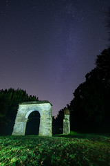 Mway & Lpaint (BrianJohnsPhotography) Tags: graveyard lightpainting milkway stars trees woodchester