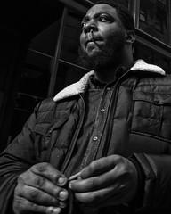 Walnut Street, 2018 (Alan Barr) Tags: philadelphia 2018 walnutstreet portrait street sp streetphotography streetphoto blackandwhite bw blackwhite mono monochrome candid city cigarette panasonic people gx9