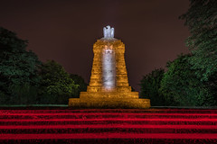 "EMD #369 - The memorial nicknamed ""The Owl"" (Electrical Movements in the Dark) Tags: lightartphotography lightpainting lightart paintingwithlight electricalmovementsinthedark emd koblenz longexposure"