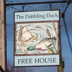 The Dabbling Duck pub sign Great Massingham Norfolk UK (davidseall) Tags: the dabbling duck pub sign great massingham norfolk uk inn tavern bar public house gb british hanging english gbg gbg2016