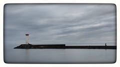 Ce matin ...  Bon Dimanche (jmollien) Tags: hérault languedoc occitanie mer méditerranée méditerraneansea phare lighthouse pêcheur fisherman ciel sky nuages clouds minimal minimalisme