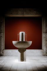 Healing warm water (vale0065) Tags: rood red water fountain fontein gezondheid health spa hall hal resort hotel welness rimsketerme rimsketoplice slovenia slovenië sanatorium sauna drinkbaar drinking bronwater well bron