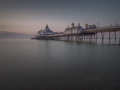 Out to Sea (Wizard CG) Tags: tags uk eastbourne pier england water long exposure sunrise sea beach east sussex united kingdom dawn victorian ocean sand stones reflection reflections clouds sun olympus epl7