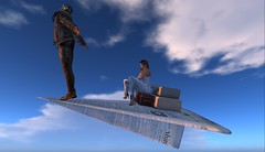 Budget Airlines (antoniohunter55) Tags: signature gianni maitreya bento catwa secondlife funny fun paper plane