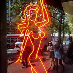Neon on Market (Thomas Hawk) Tags: america bayarea california crazyhorse sf sfbayarea sanfrancisco usa unitedstates unitedstatesofamerica westcoast neon neonsign norcal stripclub fav10 fav25 fav50 fav100