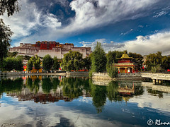 LHASA (RLuna (Instagram @rluna1982)) Tags: tibet lhasa lasa dalailama budismo palace potala himalaya everest asia china rluna rluna1982 travel photo cultura reflejos reflexión mirror water park garden