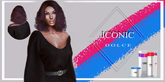 ICONIC_DOLCE_BANNER (Neveah Niu /The ICONIC Owner) Tags: iconic iconichair tlc bob dolce hair 3dmesh 3dart 3d 3dcontent blender photoshop rigged secondlife winter
