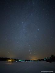 Galaxy! (petergranström) Tags: approved galaxy vintergatan sky himmel stars stjärnor road väg light ljus wood träd forrest skog lake sjö snow snö