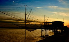 Trabucco (giannipiras555) Tags: tramonto mare sera nuvole colori chioggia venezia veneto pesca nikon