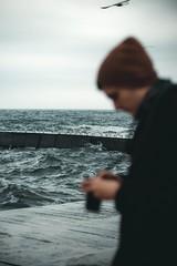 (Nika Watson) Tags: ukraine odessa одесса sea beach ланжерон november winter cold film camera 50mm canonukraine capture moments people birds boy girl photographer photography blacksea silhouette