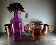 (Chris Hester) Tags: 86p angry orchard cider bottle glass copper mug cup vase purple red roses