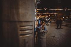 Amsterdam City Life (Sjaco Manuputty) Tags: street streetphotography streetshot night nightphotography people city streetlife woman amsterdam netherlands citylights streetlights atm tourist illuminated lights