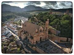 Real Colegiata Santa Maria Mayor Spark eye view (ranp121) Tags: antequera church iglesia monument spark drone air flight camorro alto sierra chimenea alcazaba