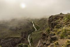 Sun burning off fog (tmeallen) Tags: foggysunrise earlymorning fog river travel remote rivergorge condorcliffs rockycliff rapids rionireguaoocoichel patagonia chile