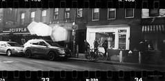 Williamsburg, Brooklyn (jev) Tags: 3dcamera diycamera filmphotography goodmanzone rb67prosfilmbackwith3dprintedpanoramicadapter mamiya sekor50mmf63lens ketmere 400 negativelabpro digitalcamerascan leicacl digitaliza rodinal 1100 analogcamera blackandwhite bnwphotography brooklyn buyfilmnotmegapixels film filmcamera filmfeed ishootfilm lensflare mediumformat monochrome nyphotographer panoramic peopleinframe streetlife streetphoto streetphotography streetstyle williamsburg xpan newyorkcity newyork unitedstatesofamerica