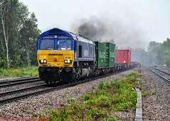 66047 @ Chesterfield (A J transport) Tags: class66 diesel locomotive railway freight maritime intermodal railways chesterfield nikkon d5300 dlsr wet raining boxes clag smoking 66047