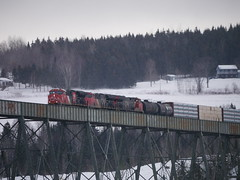 New Denmark,NB (MaineTrainChaser) Tags: cn west westbound trains train 121 quebec new brunswick