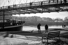 19-12_T2CF7867 (Jacek P.) Tags: poland polska kraków kładka footbridge cienie shadow blackwhite monochrome bw