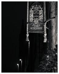 The Witchery, Royal Mile, Edinburgh (S.R.Murphy) Tags: edinburgh fujifilmxf35mmf2 night nov2019 urban urbanlandscape fujifilmxt2 nightphotography socialdocumentary streetphotography bnw bw blackandwhite monochrome thewitchery