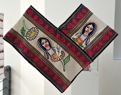 Virgen of Guadalupe Cape Oaxaca Mexico (Teyacapan) Tags: virginofguadalupe oaxaca mexico quechquemitl textiles museo embroidered