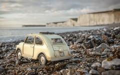 Tin Tours in December (Mandy Willard) Tags: 365 0112 2019th12 giuseppe tincar birlinggap beach sea cliffs chalk pebbles