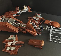MTT building sections (Just Bricking) Tags: moc mtt multitrooptransport lego legostarwars star wars starwars starwarslego starwarsepisode1 starwarsships space separatists minifigscale