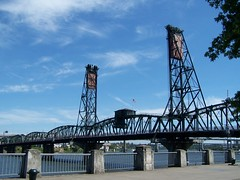 Portland Oregon - The Broadway Bridge - 1913 - Longest Bascule Bridge in the World (Onasill ~ Bill Badzo - 67 M) Tags: portland or oregon northwest states broadway bridge 1913 longest bascule onasill landmark nrhp historic historical world unitedstates williamette river usa railway railroad lift iron vintage old photo