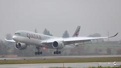 Airbus A350-941, Qatar Airways, A6-AMH (maxguenat) Tags: lsgg gva avion airplane aircraft atterrissage