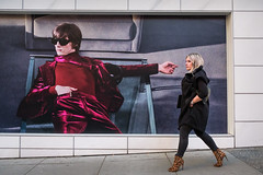 Insouciance (johnjackson808) Tags: billboard vancouver woman tomford poster people advertising streetphotography howest ad boots walking downtown