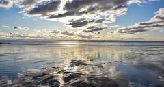 Sky Reflection (Andy.Gocher) Tags: andygocher nikon d3500 uk wales southwales southerndown treathmawr beach sky reflection clouds cloudscape skyline