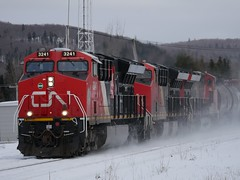 Pelletier,QC (MaineTrainChaser) Tags: cn west westbound trains train 121 quebec new brunswick