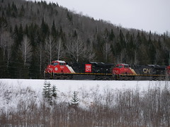 Chemin Soucy Lac Baker,NB (MaineTrainChaser) Tags: cn west westbound trains train 121 quebec new brunswick