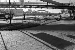19-12_T2CF7863 (Jacek P.) Tags: poland polska kraków kładka footbridge cienie shadow blackwhite monochrome bw