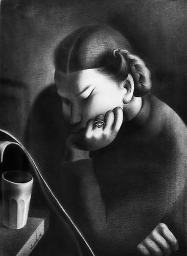 Sarah Affonso Portrait (1938) - José de Almada Negreiros (1893-1970)