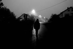 Nightwalker (stefankamert) Tags: night walker lowlight noir noiretblanc blackandwhite blackwhite ricoh gr griii ricohgriii 28mm light dark stefankamert bw