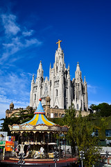 Tibidabo - Barcelona (Valdy71) Tags: tibidabo barcelona espana spain spagna church chiesa travel nikon valdy