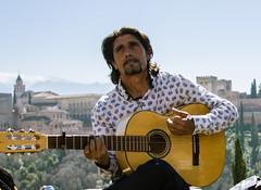 Good vibrations! (dominiquita52) Tags: streetphotography guitarist andalucia granada alhambra gypsy gitan