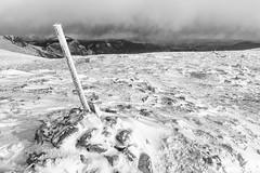eastern end of the alps (andreassimon) Tags: rax winter wegweiser sw österreich bw bn steiermark