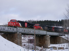 Pohenegamook,QC (MaineTrainChaser) Tags: cn west westbound trains train 121 quebec new brunswick
