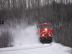 CN 3241 Route 108 New Denmark,NB (MaineTrainChaser) Tags: cn west westbound trains train 121 quebec new brunswick
