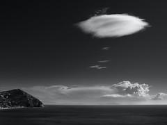 Ischia Seaview (Thunderbird61) Tags: ischia italy italia island seascape clouds mono monochrome bw zw sw nb na schwarzweiss blackwhite zwartwit noireblanc nigeretalbus neroyblanco mediumformat pentaxart pentax pentax645z