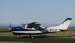 G-WYLD Cessna 210, Scone (wwshack) Tags: ce210 centurian cessna cessna210 egpt psl perth perthkinross perthairport perthshire scone sconeairport scotland gwyld