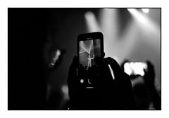 kill your screen (Alexandre Dulaunoy) Tags: concert peopletakingpictures noiretblanc noirblanc blackwhite bw nb lights rockhal phone screen