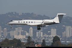 Private G550 N550JH (Sandsman83) Tags: airplane aircraft plane lax losangeles klax landing gulfstream g550 corporatejet privatejet n550jh