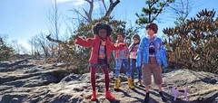 The Them at Table Rock (NC) (Nata Luna) Tags: thethem goodomens goodomenstv goodomens2019 adamyoung pepper wensleydale brian dog park mountain mountainpark outdoors