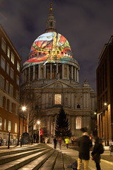 St Pauls cathedral (Owentheoptician) Tags: st pauls cathedral church london squaremile square mile canon 6d mk2 night street lowlight photography long exposure tourism william blake illumination commemoration bushey heath opticians